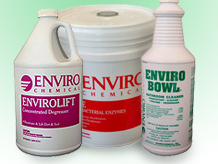 EnviroChemical has chemicals and cleaning products